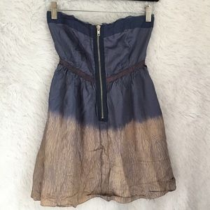 Free People Strapless Top Ombré BOHO